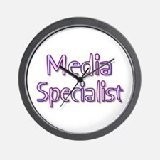 Media Specialist Rainbow Wall Clock