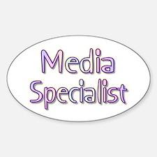 Media Specialist Rainbow Oval Decal