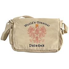 World's Greatest Dziadek Red Eagle Messenger Bag