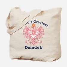 World's Greatest Dziadek Red Eagle Tote Bag