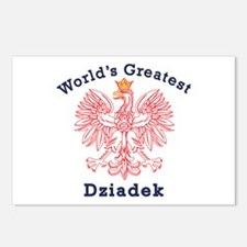 World's Greatest Dziadek Red Eagle Postcards (Pack