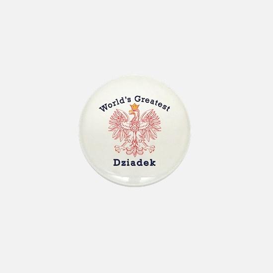 World's Greatest Dziadek Red Eagle Mini Button