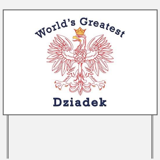 World's Greatest Dziadek Red Eagle Yard Sign