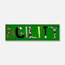 Fuzzy Agility Car Magnet 10 x 3