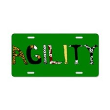 Fuzzy Agility Aluminum License Plate