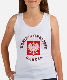 World's Greatest Babcia Crest Women's Tank Top