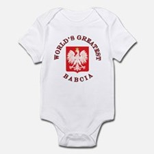 World's Greatest Babcia Crest Infant Bodysuit