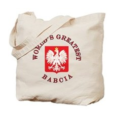 World's Greatest Babcia Crest Tote Bag