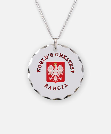 World's Greatest Babcia Crest Necklace