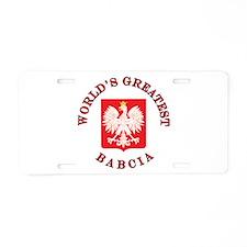 World's Greatest Babcia Crest Aluminum License Pla