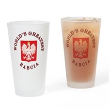 World's Greatest Babcia Crest Drinking Glass