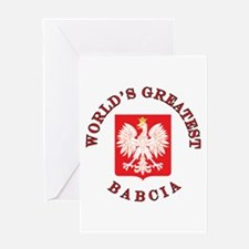 World's Greatest Babcia Crest Greeting Card