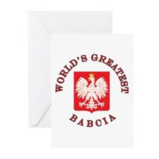 World's Greatest Babcia Crest Greeting Cards (Pk o