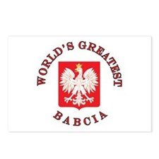 World's Greatest Babcia Crest Postcards (Package o