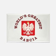 World's Greatest Babcia Crest Rectangle Magnet