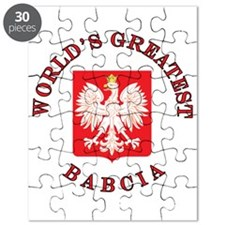 World's Greatest Babcia Crest Puzzle