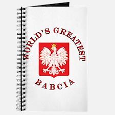 World's Greatest Babcia Crest Journal