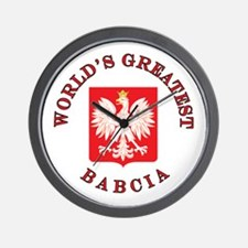 World's Greatest Babcia Crest Wall Clock