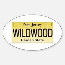 Wildwood NJ Tagwear Sticker (Oval)