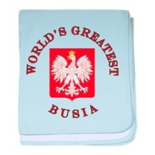 World's Greatest Busia Crest baby blanket