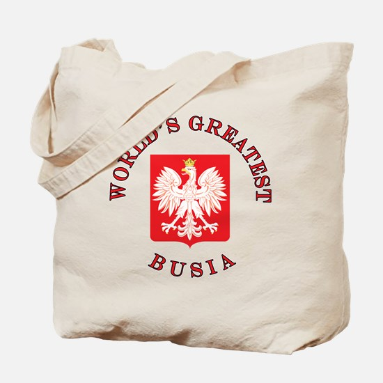World's Greatest Busia Crest Tote Bag