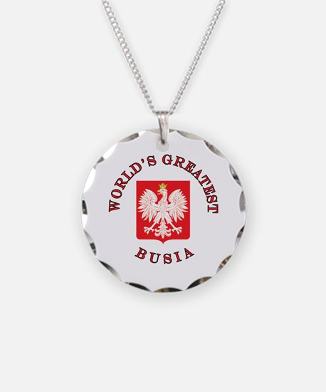 World's Greatest Busia Crest Necklace