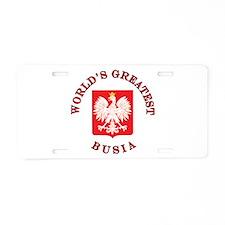 World's Greatest Busia Crest Aluminum License Plat