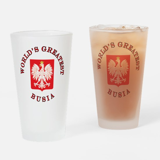 World's Greatest Busia Crest Drinking Glass