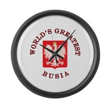 World's Greatest Busia Crest Large Wall Clock