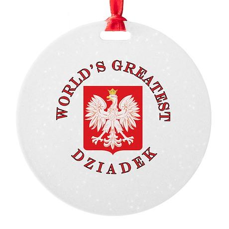 World's Greatest Dziadek Crest Round Ornament