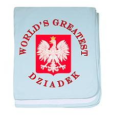 World's Greatest Dziadek Crest baby blanket