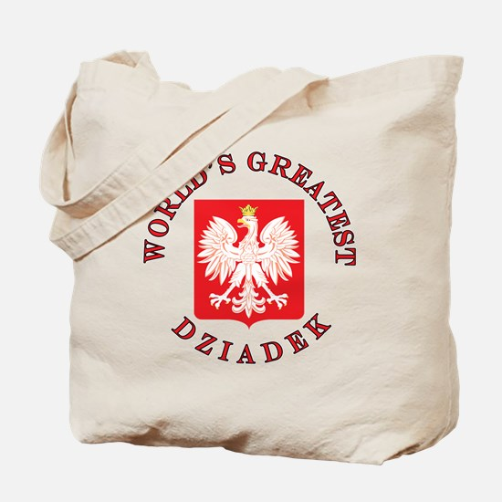 World's Greatest Dziadek Crest Tote Bag