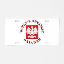 World's Greatest Dziadek Crest Aluminum License Pl