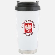 World's Greatest Dziadek Crest Travel Mug