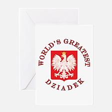 World's Greatest Dziadek Crest Greeting Card
