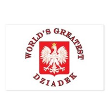 World's Greatest Dziadek Crest Postcards (Package