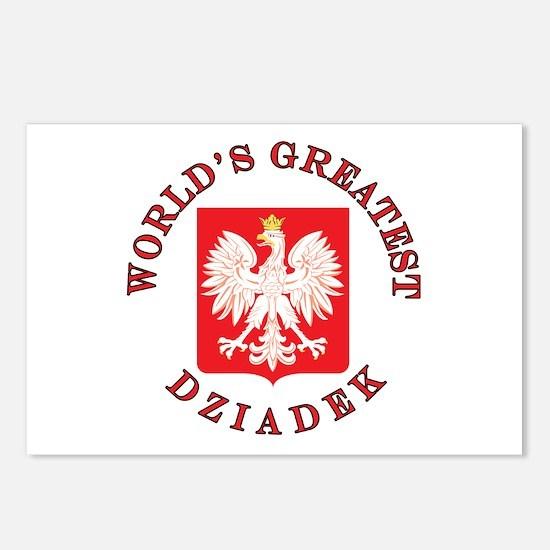 World's Greatest Dziadek Crest Postcards (Package