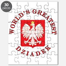 World's Greatest Dziadek Crest Puzzle