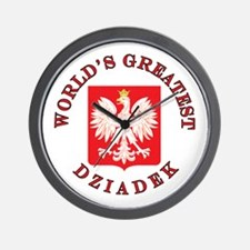 World's Greatest Dziadek Crest Wall Clock