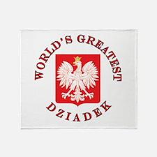 World's Greatest Dziadek Crest Throw Blanket