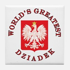 World's Greatest Dziadek Crest Tile Coaster