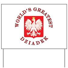 World's Greatest Dziadek Crest Yard Sign