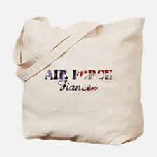 Air Force Fiancee American Flag Tote Bag