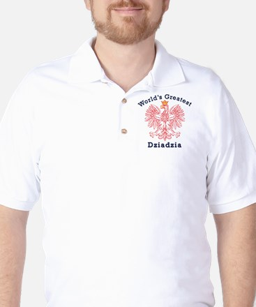 World's Greatest Dziadzia Crest Golf Shirt