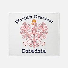 World's Greatest Dziadzia Crest Throw Blanket