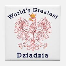 World's Greatest Dziadzia Crest Tile Coaster