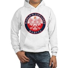 Round World's Greatest Babcia Hoodie