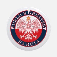 Round World's Greatest Babcia Ornament (Round)