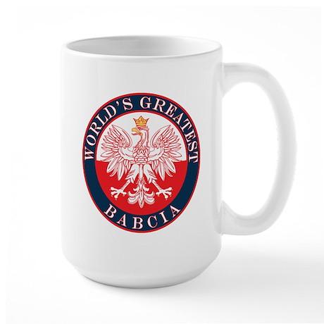 Round World's Greatest Babcia Large Mug