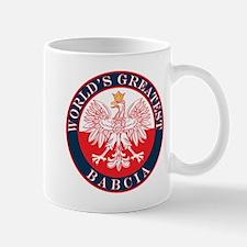 Round World's Greatest Babcia Mug
